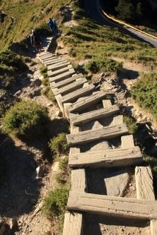 登山的木階梯