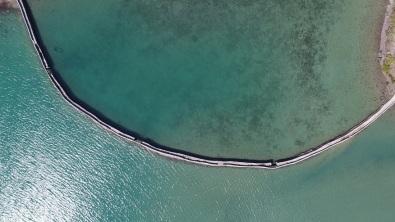 高空下的堤圍(航拍照片)
