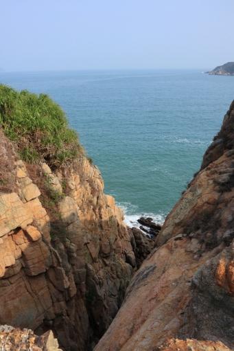 北角咀的崖壁