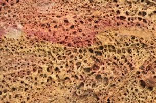 粉彩色的蜂巢石